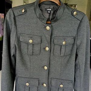 Apt 9 Dark Gray Military Blazer